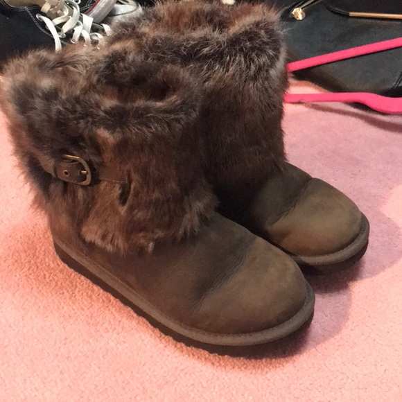 UGG Other - Fuzzy brown girls uggs